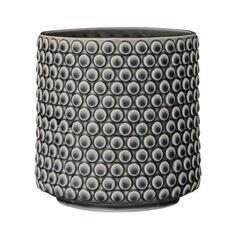 Pot à fleurs en céramique marine, Chez Balivernes Boutique