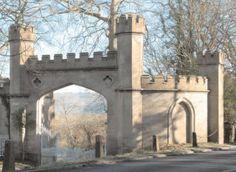 Archway to Midford Castle Monuments, Castles, Buildings, Bath, Bathing, Chateaus, Bathroom, Bathtub, Castle