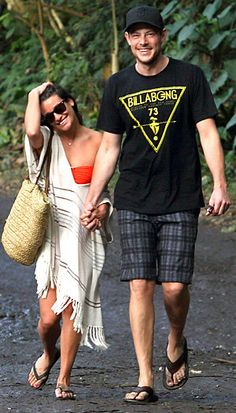 Lea Michele and Cory Monteith almost 1 year