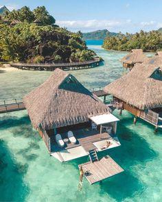 Staying at Conrad Bora Bora Nui Vacation Places, Dream Vacations, Vacation Trips, Vacation Spots, Greece Vacation, Vacation Travel, Budget Travel, Travel Ideas, Travel Guide