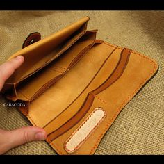 Leather wallet leather purse leather clutch womens by CARACODA
