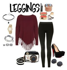 """""""Legging For Everyone"""" by retnoversoo on Polyvore featuring Topshop, Boris, Betsey Johnson, Dolce&Gabbana, DKNY, LULUS, Lizzy James, Leggings and WardrobeStaples"""