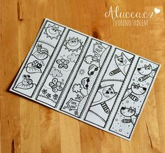Crafts For Kids, Diy Crafts, Bookmarks, Coloring Pages, Drawings, Creative, Advent, Books, Cap