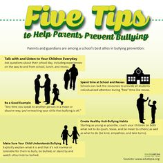 Here are some tips to help parents prevent #bullying: #BullyNoMore