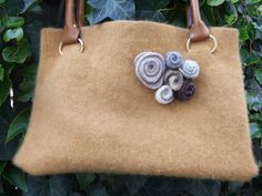 Kate felted wool handbag made from an upcycled sweater by momika, $40.00