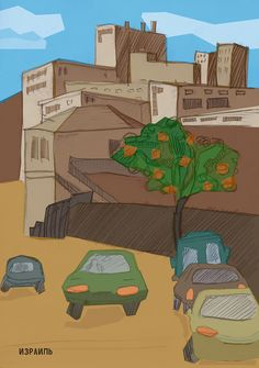 illustrations city on Behance