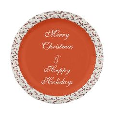 Candy Canes Holiday Paper Plates 7 Inch Paper Plate