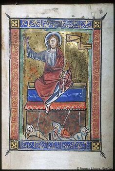 Psalter-hours (MS M.94). Cologne, Germany, between 1250 and 1274.  MS M.94  fol. 16r; Christ Resurrection
