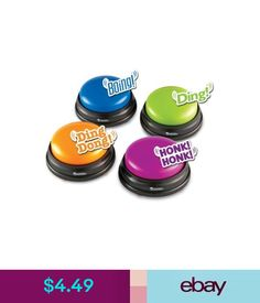 Buzzer lockout system quality quiz buzzers for quiz bowl jeopardy 449 1 answer buzzer for kids classrooms game show sound effects ebay solutioingenieria Images