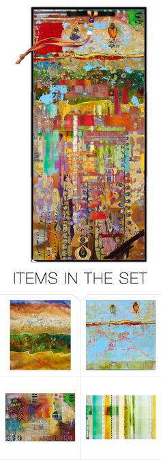 """""""BIRD ON A WIRE"""" by cindyfaye ❤ liked on Polyvore featuring art"""