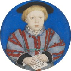Hans Holbein the Younger, Charles Brandon, 3rd Duke of Suffolk, signed and dated 1541, watercolour on vellum laid on playing card, diameter 5.5 cm (Royal Collection, RCIN 422295).