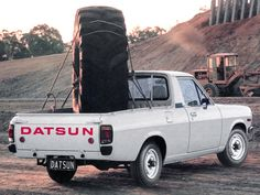 Datsun 1200 Ute photos - Free pictures of Datsun 1200 Ute for your desktop. HD wallpaper for backgrounds Datsun 1200 Ute photos, car tuning Datsun 1200 Ute and concept car Datsun 1200 Ute wallpapers. Fiat 500, Datsun 210, Mini Trucks, Car Tuning, Japanese Cars, Buick, Concept Cars, Cars And Motorcycles, Nissan