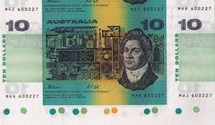 Australia $TEN FOLDER FRAS/COLE B UNCUT BANKNOTES WITH TRAFFIC LIGHT ...RARE