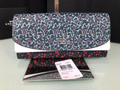 COACH SLIM ENVELOPE WALLET IN RANCH FLORAL PRINT MIX COATED CANVAS F59060 #Coach #Wallet
