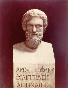 Aristophanes... One of the greatest thinkers of his time.  Had a way of bringing levity to the harshest of conversations.  Both Socrates, and Plato came to him when stumped.