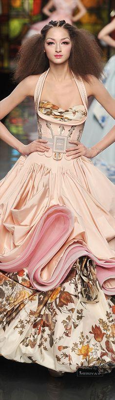 Christian Dior floral fashion