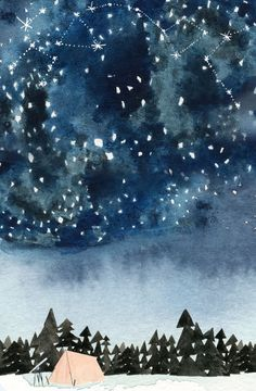 Lindsay Gardner - Starry Night - illustration