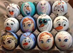 Last Frozen set Easter eggs by Rene-L.deviantart.com on @deviantART