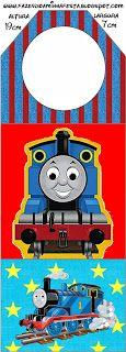 Thomas the Train: Free Party Printables. Thomas Birthday Parties, Thomas The Train Birthday Party, Birthday Themes For Boys, Trains Birthday Party, Train Party, Kids Party Themes, Birthday Party Themes, Birthday Ideas, Birthday Cakes