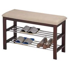 Let this padded storage bench bring harmony to your master suite walk-in or mudroom.   Product: Storage benchConstr...
