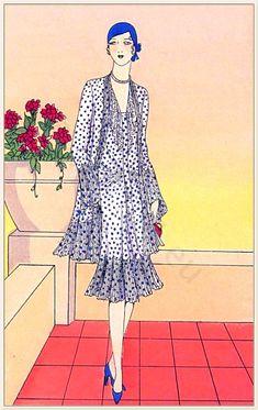 New Ideas Style Vintage Fashion Art Deco 20s Fashion, Fashion Mode, French Fashion, Art Deco Fashion, Fashion History, Fashion Prints, Retro Fashion, Vintage Fashion, Fashion Design
