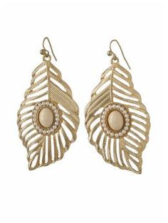 """Feather Pearl Drop Earring  by Sabine  Rated 4 stars  Based on 1 ratings  #909431  E47856  color: Gold  $16.00  size: One Size  Select qty:  Gold, One Size  $16.00  Details  overview        Sabine Feather Pearl Drop Earring      Drop earring      2 1/2"""" drop      Gold plated      Hook backing    FREE SHIPPING & FREE RETURNS        Delivered within 3-5 business days.*      (No minimum, all orders ship FREE.)      FREE returns and exchanges by mail only.    * Learn More  IN YOUR OWN WORDS"""