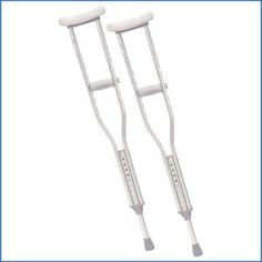 Drive Medical Walking Crutches with Underarm Pad and Handgrip (Youth, 1 Pair), Silver aluminum Mobility Aids, Crutches, Latex Free, Underarm, Walking, Medical, Pairs, Youth, Stuff To Buy