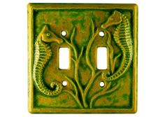 Seahorses Ceramic Light Switch Cover Double by HoneybeeCeramics, $25.00