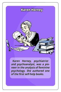 Karen Horney, psychiatrist   #stem #women #cardgame
