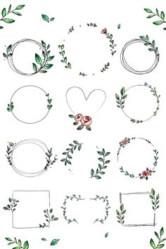 To The MoonTo The Moon - DoodlesAnimal Illustrations, OctopusTattoocute Animal Illustrations cuteanimalstodraw Doodle Design, Doodle Art, Bullet Journal Ideas Pages, Bullet Journal Inspiration, Floral Doodle, Illustration Blume, Wreath Drawing, Floral Wreath Watercolor, Simple Doodles