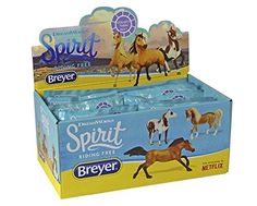 """Breyer Spirit """"Riding Free"""" Surprise Blind Bag - Full 12 Piece Display Box. Collect all of the horses from the all-new DreamWorks Netflix series Spirit Riding Free!. This item includes a full manufacturers displayer stuffed with 12 surprise bags!. Each of the 12 random horses is 1:32 and approx 3"""" tall in scale, making them wonderful for collecting, as well as for goodie bags or stocking stuffers. Perfectly sized for take-along play, collect them all to create your very own Spirit Riding..."""