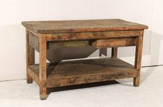 19th Century Spanish Work Table with Two Drawers For Sale at 1stdibs