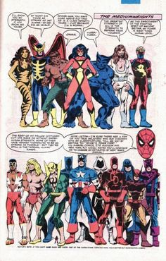 Marvel Character Strength League Table from Amazing Spider-Man Annual #15 - Bob Layton
