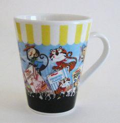 Vintage Kellogg's Sweet Eatin' Carnival Porcelain 10 oz Coffee Mug cup 2006