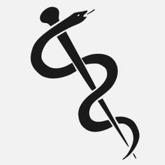 Simple rod of Asclepius | Tattoo ideas | Pinterest | Simple