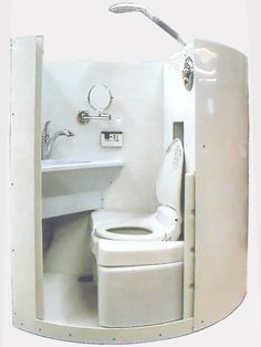 Image Showing New Life All-In-One Bathroom, Sliding Door Open (Click to enlarge)