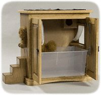 The mother of all cat box covers.  Let's find an end table to upcycle.