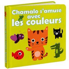 A chaque page, votre enfant découvre une couleur avec Chamalo et ses amis, et apprend à lui associer des mots et des images. Rouge comme Simon le poisson rouge, Blanc comme Léon le mouton blanc... Ce petit livre permet de développer, de manière ludique et colorée, le vocabulaire de votre tout-petit !