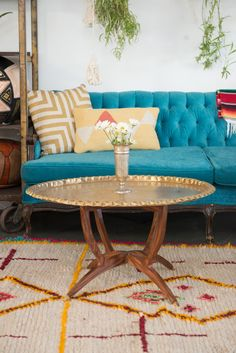 Our Moroccan Brass Zara Twin Tables for the Gemini #PatinaZodiacStyle | Patina