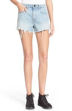 Denim X Alexander Wang Frayed High Rise Denim Shorts available at #Nordstrom