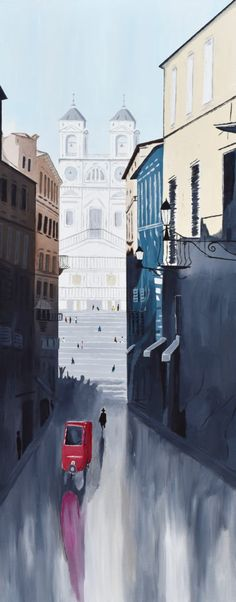 The Spanish Steps of Rome Italy Acrylic Painting by Brian Sloan Art. Available on Etsy! Rome Painting, Italian Paintings, Living In Italy, Acrylic Canvas, Rome Italy, Online Gallery, Painting Inspiration, New Art, Illustrators