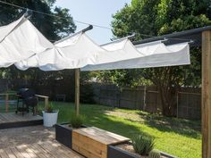 Backyard patio deck shade ideas and backyard shade solutions diy backyard shade ideas deck shade canopy Deck Shade, Backyard Shade, Backyard Canopy, Canopy Outdoor, Backyard Patio, Outdoor Decor, Deck Canopy, Garden Canopy, Outdoor Spaces