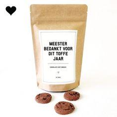 Meester bedankt - Chocolate Chip Cookies
