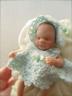 February 2011 OOAK Polymer Clay Baby Girl