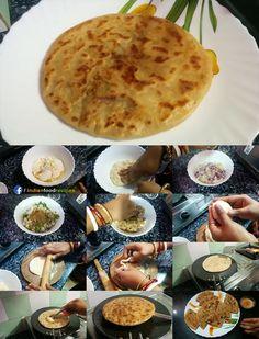 Paratha is the most popular breakfast dish in India. Aloo Ka Paratha Dhaba Style Potato Stuffed Paratha recipe step by step. Aloo Recipes, Paratha Recipes, Kulcha Recipe, Roti Recipe, Breakfast Dishes, Breakfast Recipes, Alu Paratha, Caribbean Recipes, Caribbean Food