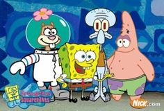 SpongeBob, Patrick, Sandy, and Squidward