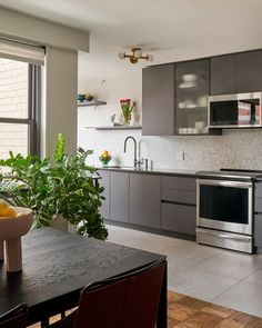 Functional galley kitchen created by flipping the floorplan....check out the article.