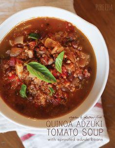 Quinoa Adzuki Tomato Soup: senza glutine e vegan