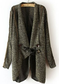 To find out about the Brown Long Sleeve Asymmetrical Cape Cardigan Sweater at SHEIN, part of our latest Sweaters ready to shop online today! Poncho Coat, Drape Cardigan, Sweater Cardigan, Sweater Coats, Winter Coats Women, Long Sweaters, Fasion, What To Wear, Style Me