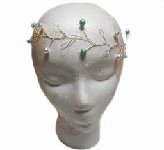 Wedding hair vine, Pearl hair vine, Silver hairvine, Renaissance Circlet, Elven Circlet, wedding crown, pearl headpiece, elvish headpiece